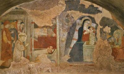 Santuario-di-Greccio-affreschi-del-primo-presepe