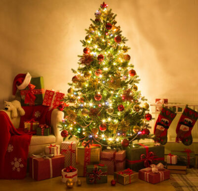 presepi di montagna albero-di-Natale