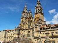 santiago de compostela, cattedrale in di piazza Obradeiro