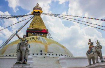 Stupa Boudha, il più grande tempio buddista del Nepal a Katmandu