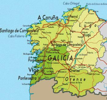 Galizia cartina
