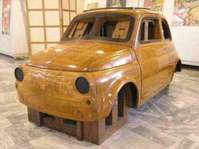 anni cinquanta Master in mogano della Nuova Fiat 500 (1955)
