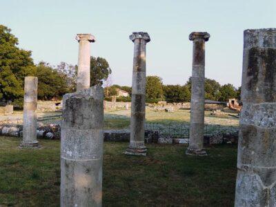 Sepino, i resti della Basilica di epoca romana