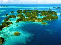 Veduta dall'alto dell'arcipelago della Micronesia