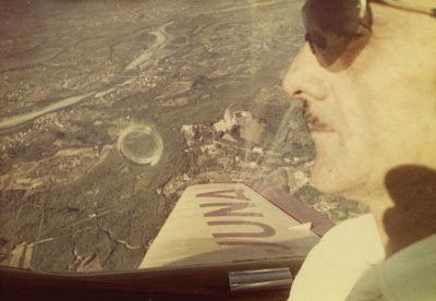 Carlo Mollino in volo su Torino