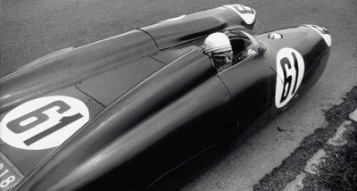 Mollino sulla Bisiluro, 1955 (Foto: E. Invernizzi)