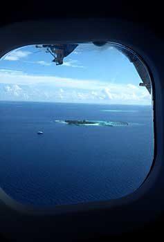 Le Maldive viste dal'aereo