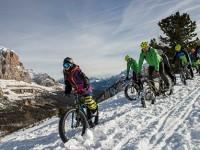 A Cortina D'Ampezzo Fat Bike, la bicicletta per sciare sulla neve