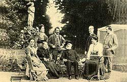 Giuseppe Verdi Verdi con un gruppo di ospiti a Sant'Agata nel 1898