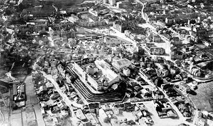 Lublino, il quartiere ebraico in un foto del 1940