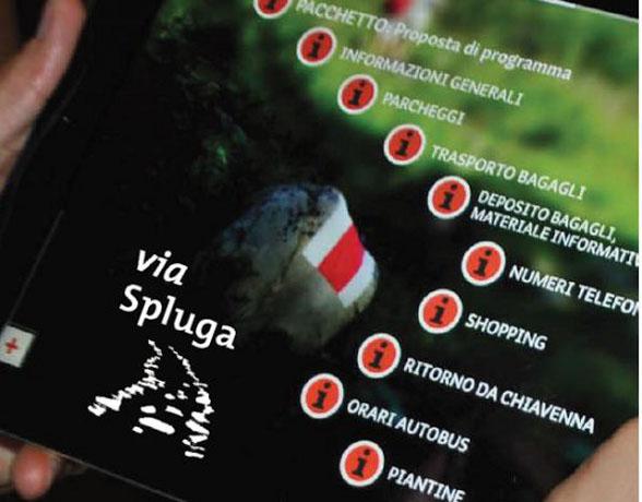 Trekking sulla Via Spluga con una app
