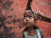 L'India sul volto
