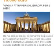 In premio un viaggio da 10mila euro