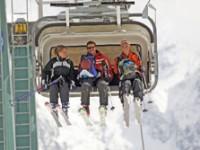Turismo in montagna in vetta