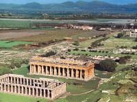 Veduta panoramica del Parco Archeologico di Paestum
