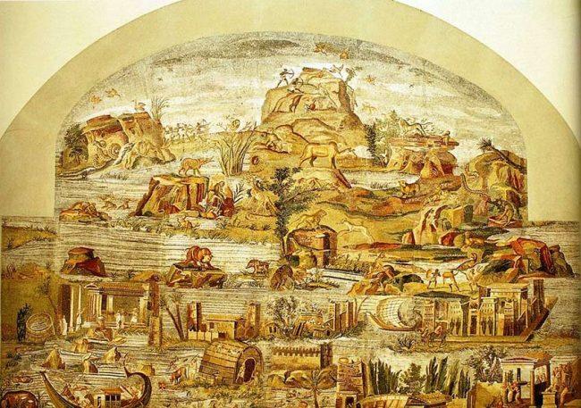 Riflessi del Nilo nella grande sala di Palestrina