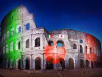 Roma, il Sol Levante al Colosseo con Messaggi di Luce