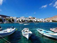 L'isola di Tinos, le Cicladi, la Grecia