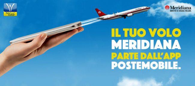 Il volo Meridiana si acquista con l'app PosteMobile