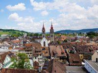 Winterthur, panoramica sul centro storico