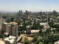 Panoramica dall'alto di Teheran