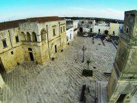 La piazza di Poggiardo in provincia di Lecce