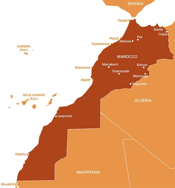 Cartina Marocco Da Colorare.Cartina Marocco Mondointasca