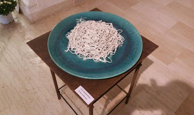 "Una ""marmorea"" spaghettata di Erika Anfisen (foto: G. Nitti © Mondointasca.org)"