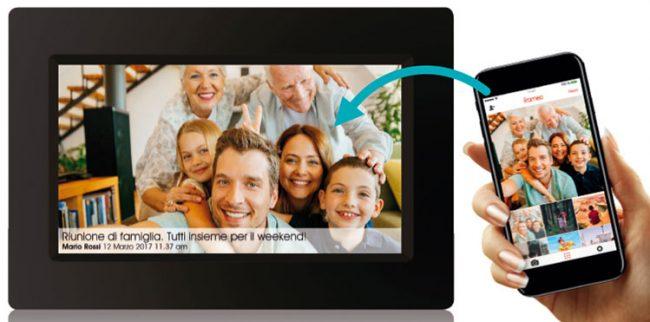 Social Photo Frame WI-FI per condividere le foto