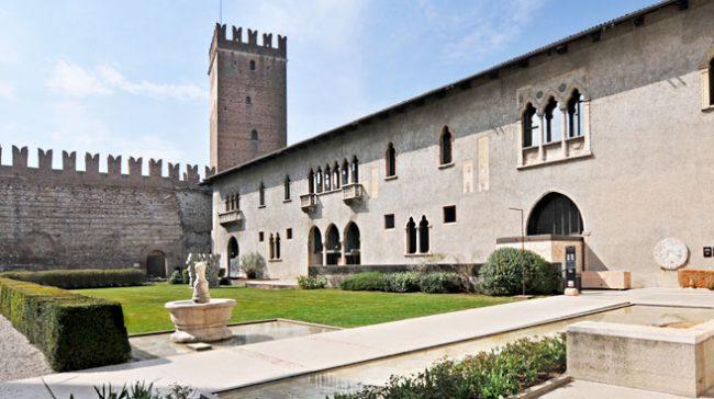 Verona, cortile interno del Museo Civico di Caltelvecchio