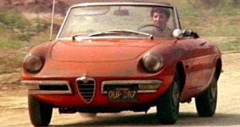 Auto e cinema Dustin Hoffman sul Duetto Alfa Romeo
