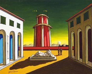 Morandi - Giorgio De Chirico, piazza-Italia, 1930