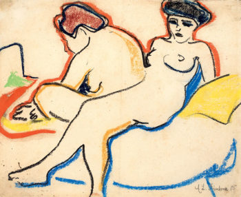 Hitler Kirchner,-Due-nudi-sul-letto,-1907-1908,-Kunstmuseum-Bern