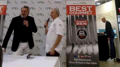 Maurizio Potocnik con lo chef Davide Botta