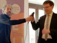 Pietro Biancardi, direttore del Festival, con Filippo Del Corno, assessore alla Cultura del Comune di Milano