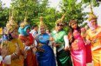 Bangkok donne in costumi tradizionali
