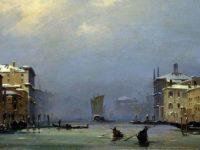 Ippolito Caffi (1809–1866) Neve e nebbia, Venezia,1842
