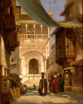 Ippolito-Caffi strada-del-Cairo,-1844.-foto-Fondazione-Musei-Civici-di-Venezia