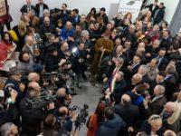 Il sindaco di Fermo Paolo Calcinaro inaugura Tipicità 2018 (Foto: P. Ricciardi © Mondointasca)