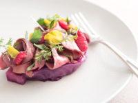 Cuore, cavolo viola fermentati, rafano (Ph: D. Bragaglia © Mondointasca)