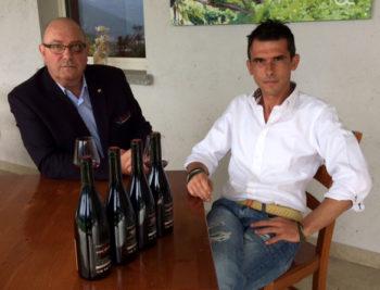Casscina Lorenzo Daniel-Pennacchio con Renato-Rovetta giornalista-sommellier