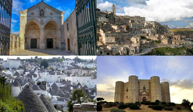 Sorelle d'Unesco: Andria, Matera, Alberobello, Castel Sant'Angelo