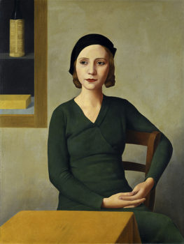 Realismo magico Antonio-Donghi,-donna-al-caffè,1931,-Musei-Civici-di-Venezia,-Galleria-Internazionale-d'Arte-Moderna-di-Ca'-Pesaro©Archivio-Fotografico,-Foto-Franzini-C