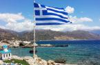 Creta Palaiohora,-scorcio-panorama-e-bandiera