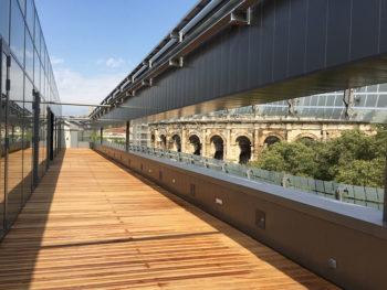Nimes Musée-de-la-Romanité,-Terrasse-Panoramique-Photo-F-Sanchez