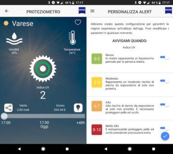 ZEISS UVDetector: l'app dell'estate che ti segnala per tempo quando è ora di proteggersi dai raggi del sole