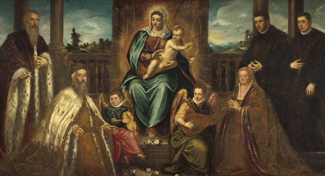 Il Doge Alvise Mocenigo e la sua famiglia davanti alla Madonna col bambino
