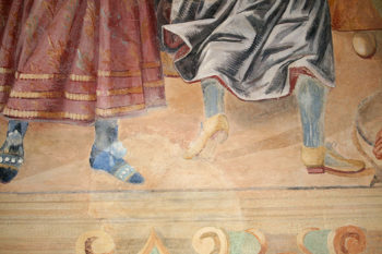 Galatina affreschi-calzature-attuali