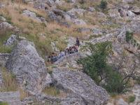 Gravina di Rivolta turisti in escursione (foto: Emilio Dati © Mondointasca.it)