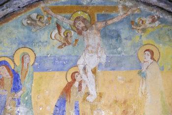 Ginosa affreschi Chiesa rupestre di Santa Sofia